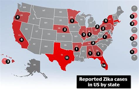 zika virus identified in alabama and it has spread to 20 us states daily mail