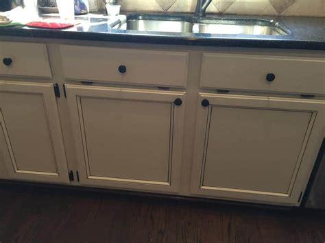light pewter cabinets  black glaze pin stripes  cabinet girls