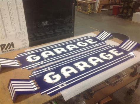 Custom Garage Sign custom porcelain neon garage sign vault custom garages