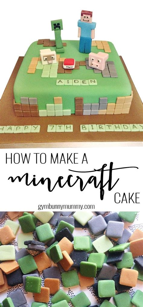 how to decorate a minecraft cake how to make a minecraft cake the easy way cookies cake