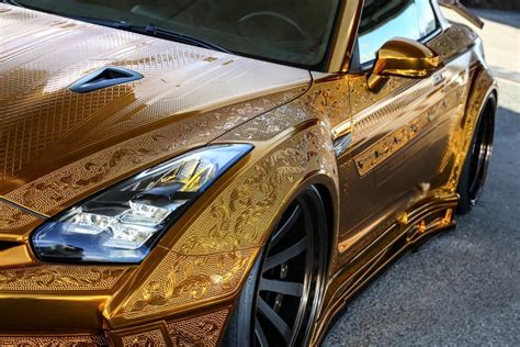 gold nissan car gold engraved nissan gt r costs over 1 million