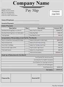 editable monthly salary slip template example with table With editable payslip template
