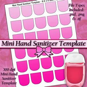 new mini hand sanitizer label digital collage sheet template With hand sanitizer printable label