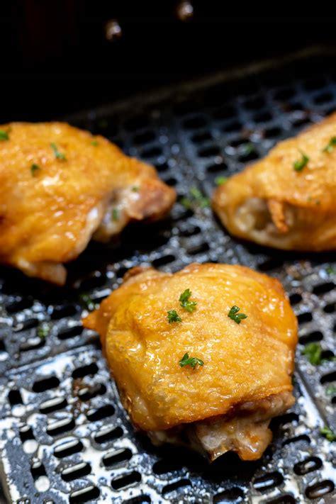 chicken fryer air bone thighs cook fry skin recipes recipe airfryer tasty dinner basket cooked