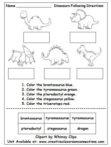 dinosaur worksheets preschool dinosaur worksheet contains brief directions and cut and 602