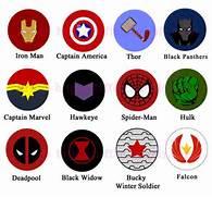 Marvel symbols  button...