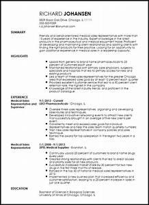 medical sales representative resume example resume now