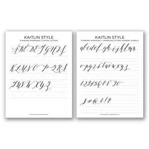 Kaitlin Style Calligraphy Free Worksheet