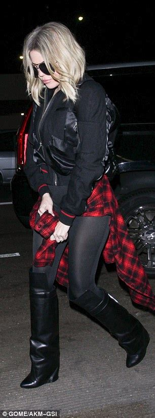 Khloe Kardashian shows off curves in rock-chic ensemble as ...