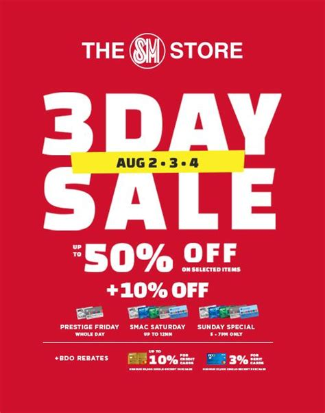 manila shopper  sm store  day sale aug