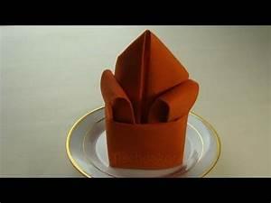 Youtube Servietten Falten : servietten falten lilie youtube ~ Frokenaadalensverden.com Haus und Dekorationen