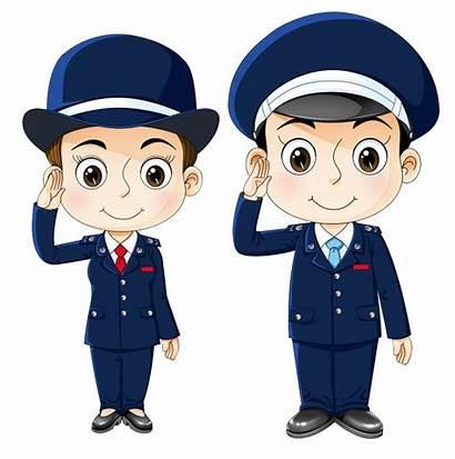 Police Cartoon Officer Security Clipart Policeman Uniform