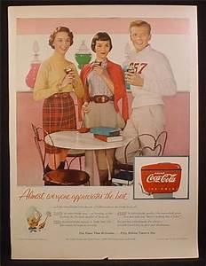 Magazine Ad For Coca-Cola Coke, Teenagers At The Soda Shop ...