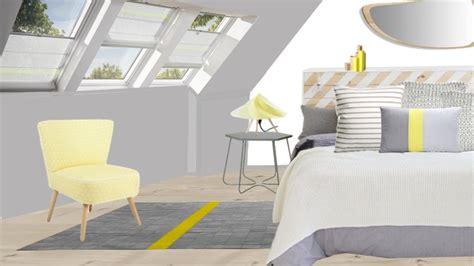 deco chambre jaune et gris aménagement intérieur archives mademoiselle déco déco