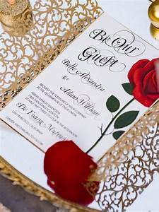 could these beauty and the beast wedding photos be any With beauty and the beast be our guest wedding invitations