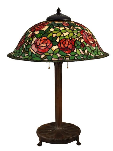 Dale Tiffany TT15105 Rose Bush Table Lamp In Antique