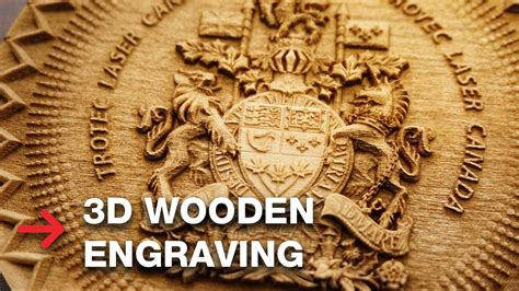 wooden engraving laser engrave  coat  arms youtube