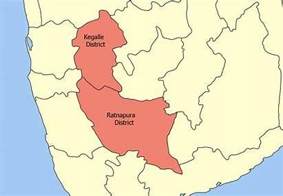 Map Sri Lanka Province Ratnapura Districts Kegalle