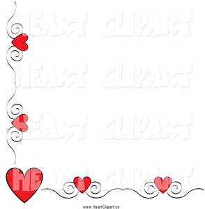 Heart Swirl Corner Borders Clip Art