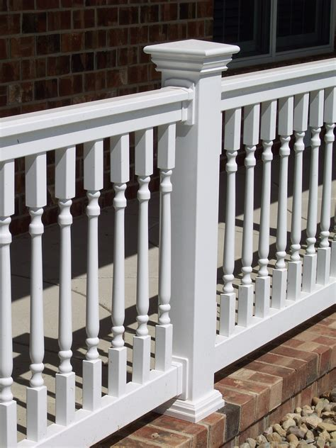 bristol elegant spindle railing section vinyl