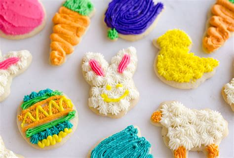 frosted sugar cookies spring cut outs
