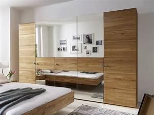 Kleiderschrank Nur Mit Einlegeböden : kleiderschrank aus wildeiche mit spiegelfront binita ~ Michelbontemps.com Haus und Dekorationen