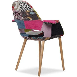 homelala multi color upholstered organic arm chair