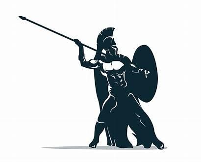 Warrior Spartan Greek Clipart Vector Illustration Ancient