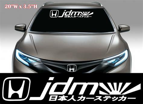 (1x) Jdm Kanji Racing Decal Sticker Mugen Windshield Decal