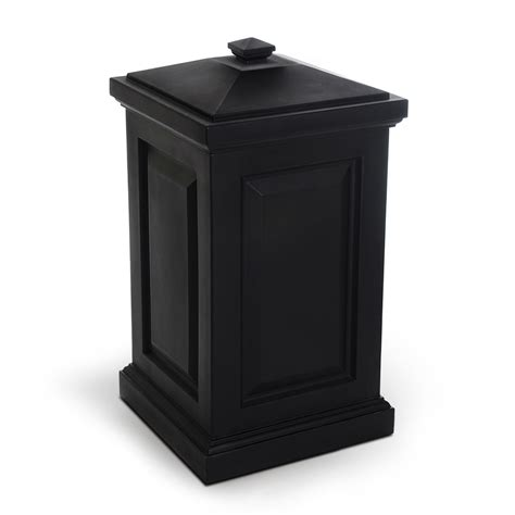 shop mayne 45 gallon black outdoor garbage can at lowes
