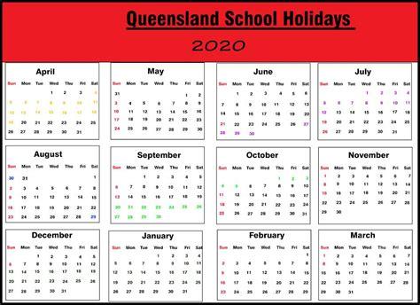 qld school holidays  printable template calendar
