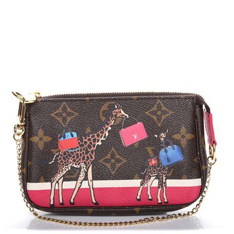 louis vuitton monogram giraffe xmas mini pochette accessories