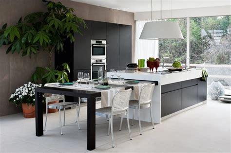 amenagement cuisine ilot central cuisine îlot central 25 propositions modernes