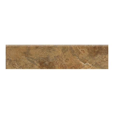 bullnose floor tile marazzi imperial slate 3 in x 12 in tan ceramic bullnose floor and wall tile uh6b the home depot