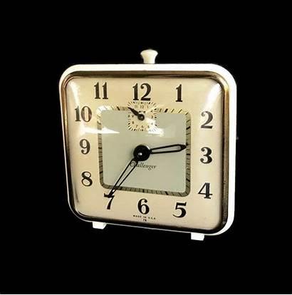 Clock Alarm Wind Square Challenger Clocks Non