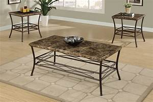faux marble 3 piece coffee table set affordable With 3 piece marble coffee table set