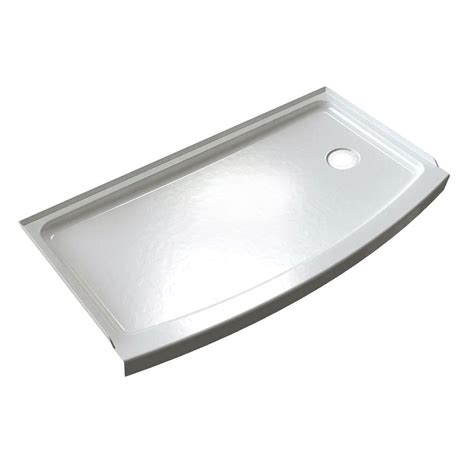 Kitchen Drawer Organizing Ideas - silver color cast iron shower base pan with right hand drain ideas