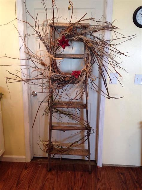 rustic ladder rustic ladder home diy home projects