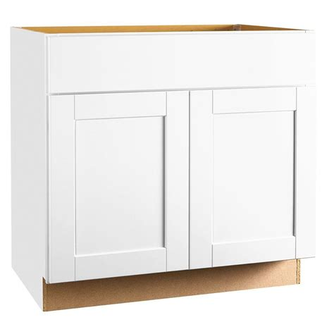 white kitchen cabinet base hton bay shaker assembled 36x34 5x24 in sink base