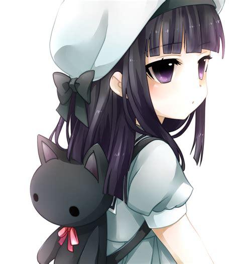 girl solo black hair zerochan anime image board