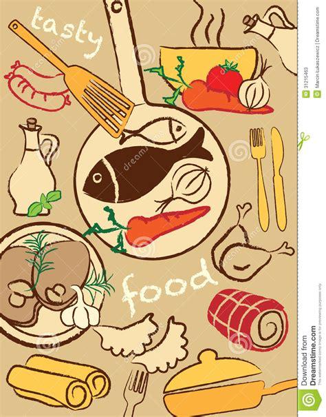 illustration cuisine set food illustration stock vector image of healthy 31215463