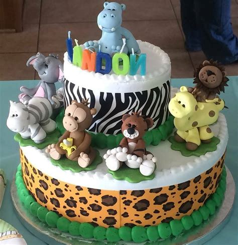 cake topper jungle animals baby shower  birthday set