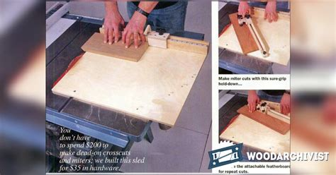 table  miter sled plans woodarchivist