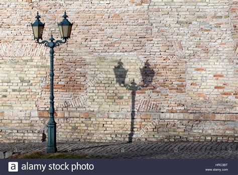 classic outdoor l by the old brick wall lantern along