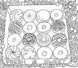 Coloring Pages Printable Donut Donuts Box Europe Worksheet Bestcoloringpagesforkids Preschool Whitesbelfast sketch template