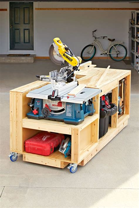 mobile tool bench woodworking plan     shop