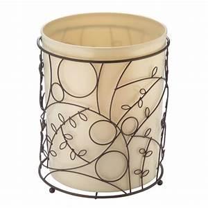 Interdesign, Twigz, Metal, Wire, And, Plastic, Wastebasket, Trash, Garbage, Can, For, Bathroom, Bedroom
