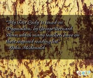 Pygmalion Famou... Pygmalion Socialism Quotes