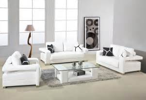 furniture for livingroom white leather sofa with arms and glass top table for small living room design with gray fur rug