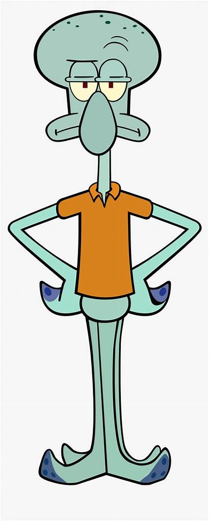 Spongebob Squidward Clipart Squarepants Tentacles Transparent Zooplankton